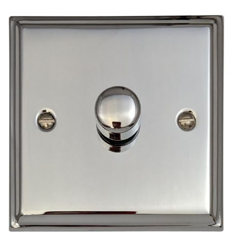 G&H DC15 Deco Plate Polished Chrome 1 Gang 1 or 2 Way 700W Dimmer Switch Single Plate
